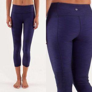 Lululemon Crop Denim Luon Yoga Pants Indigo Mirage
